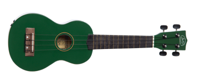 Jack & Danny UK-B1S GR Ukulele, Green, incl. Bag
