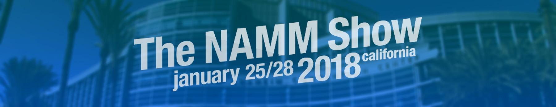 namm show 2018 headerbild und logo