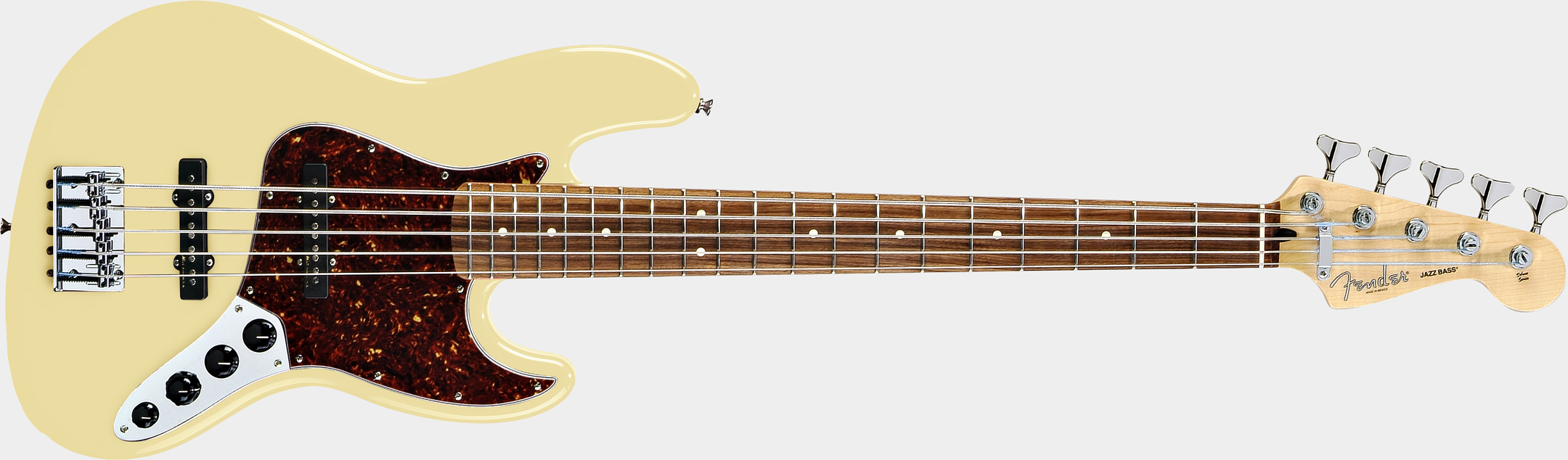 FENDER Deluxe Active Jazz Bass V Vintage White