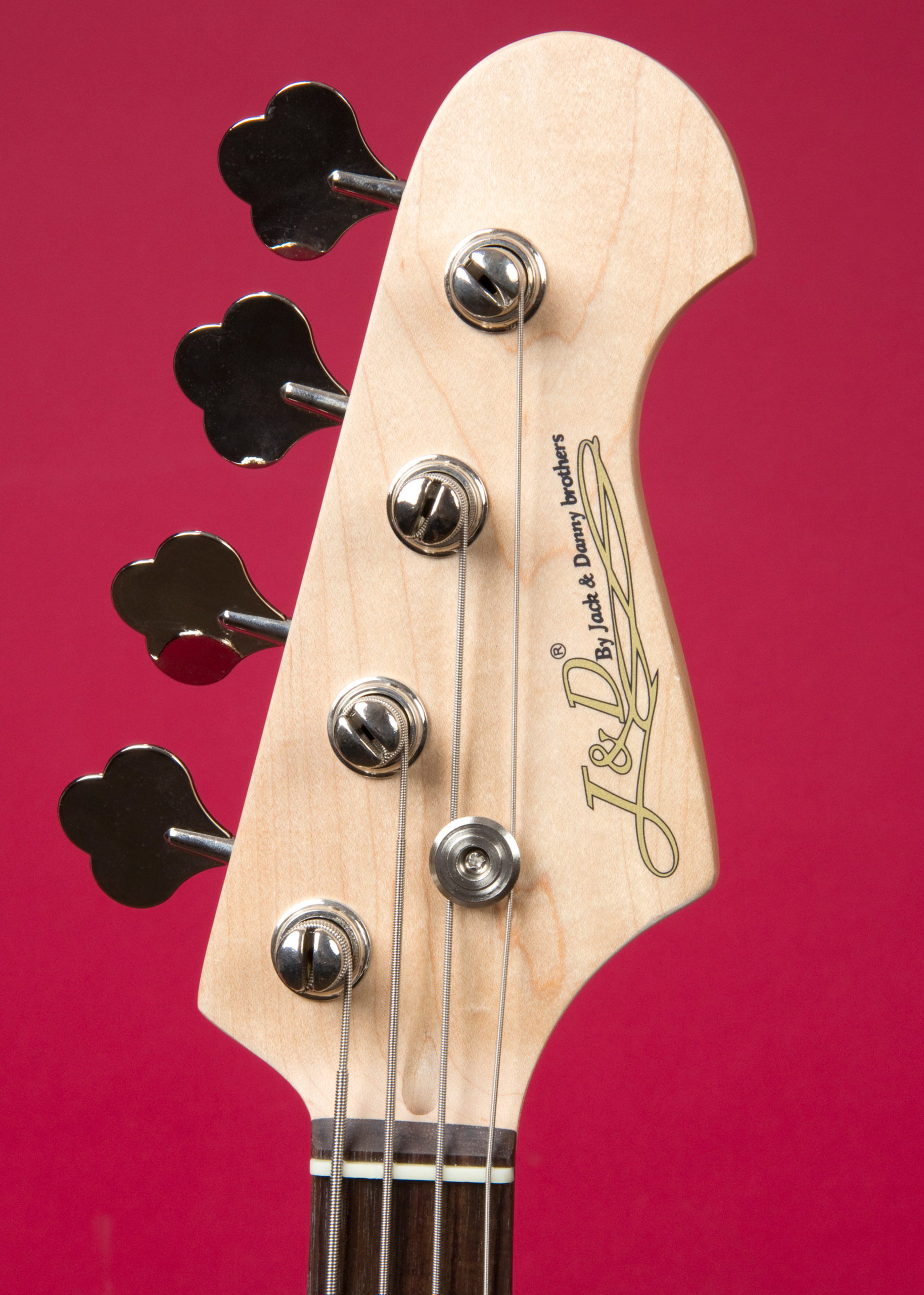 JACK & DANNY PB Black High Gloss Headstock Detail