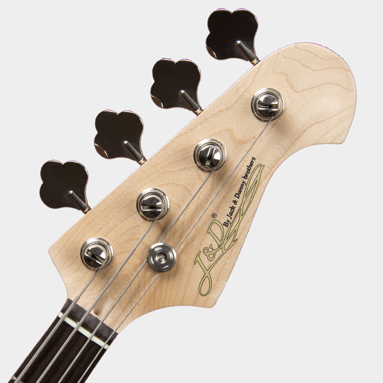 JACK & DANNY JB Black High Gloss Headstock Detail