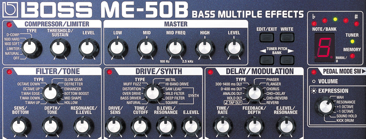 BOSS ME-50B Bass Multieffekt