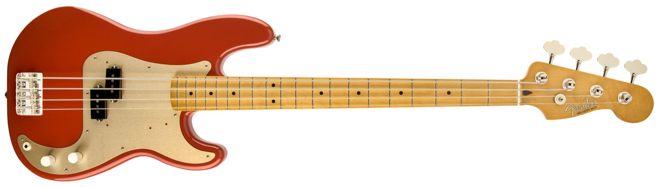FENDER Classic Series' 50s Precision Bass MN Fiesta Red