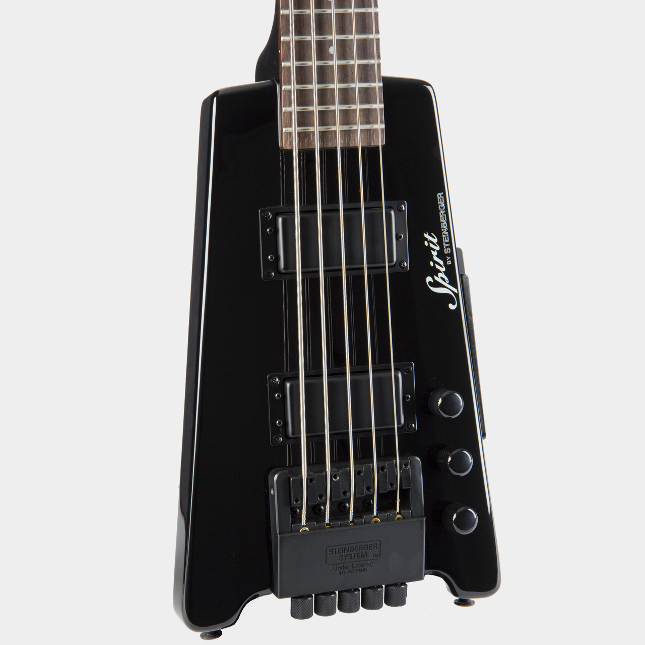 STEINBERGER Spirit XT-25 Standard Black Body Detail