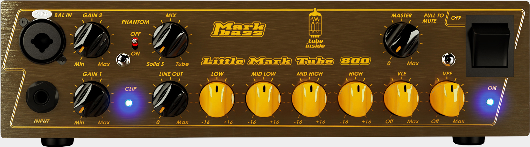 MARKBASS Little Mark Tube 800 Frontpanel
