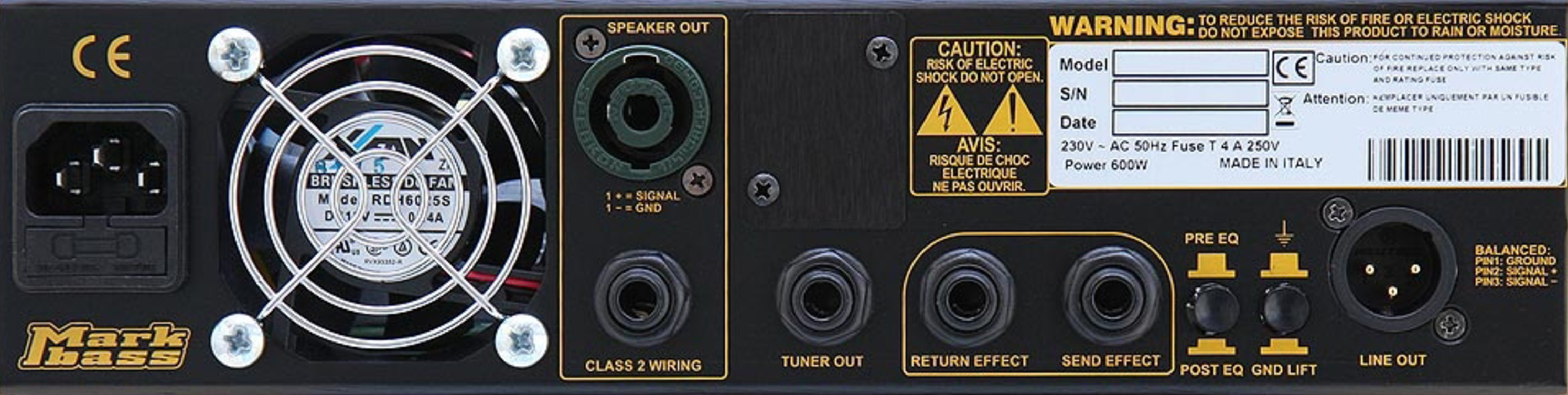 MARKBASS CMD 102 P LM3 Combo Rear Panel