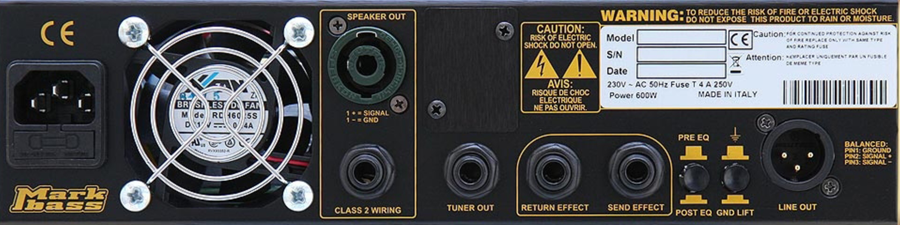 MARKBASS CMD 151 JB LM3 Combo Rear Panel
