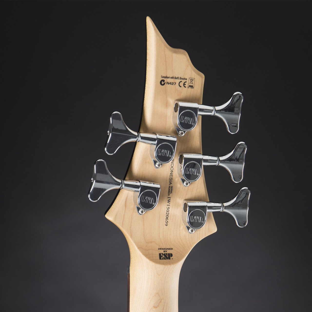 ESP LTD F-105 Black headstock