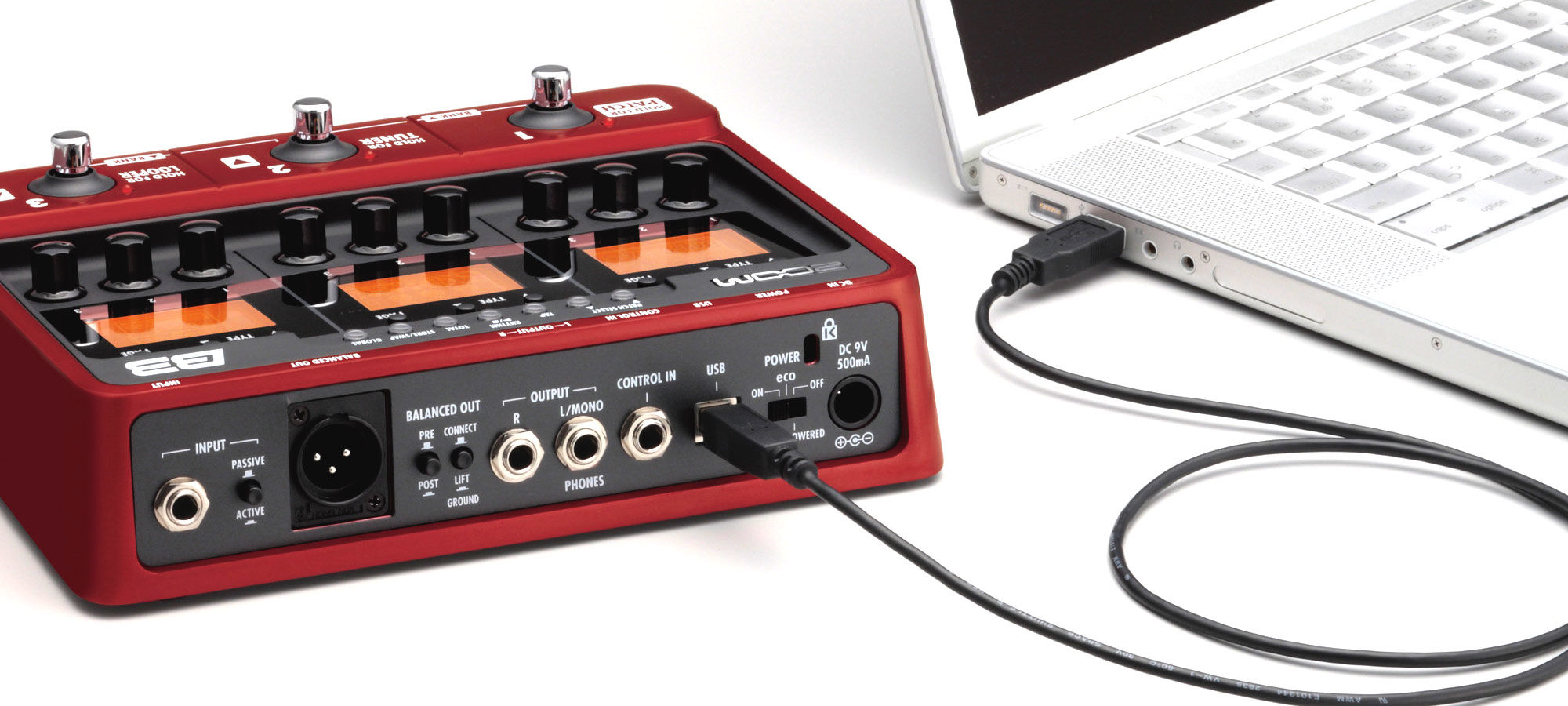 ZOOM B3 Multieffekt Interface