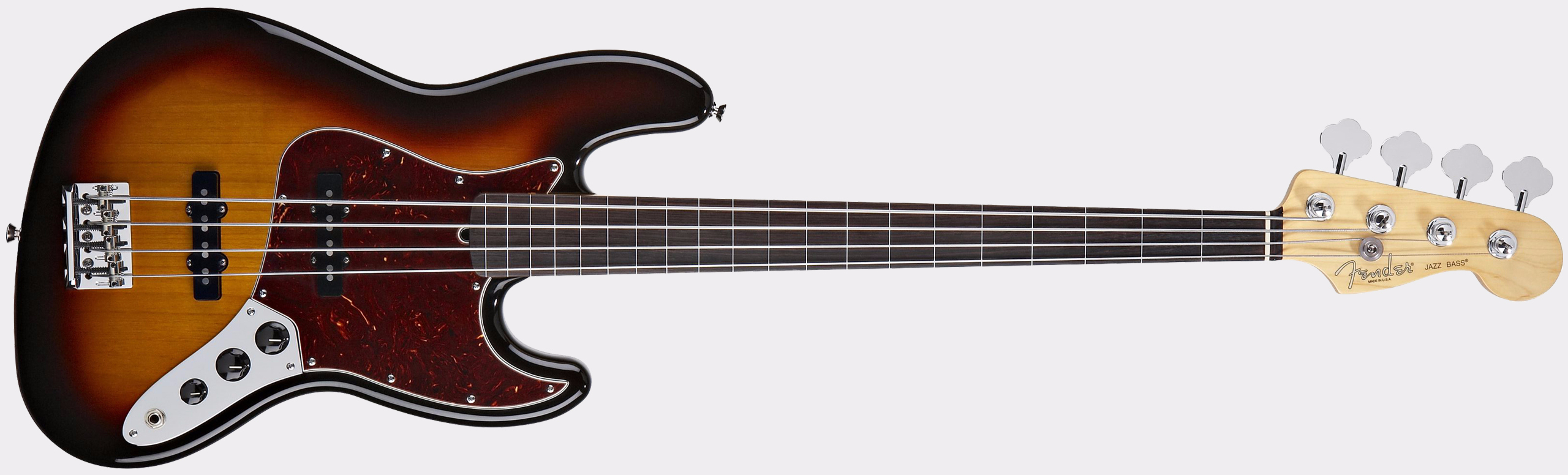 FENDER American Standard Jazz Bass Fretless 3-Color Sunburst