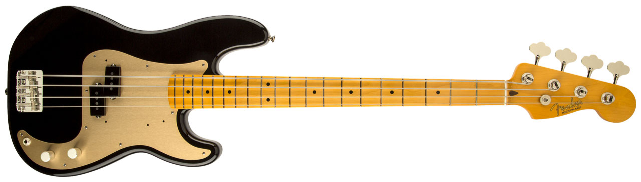 FENDER Classic Series' 50s Precision Bass MN Lacquer Black