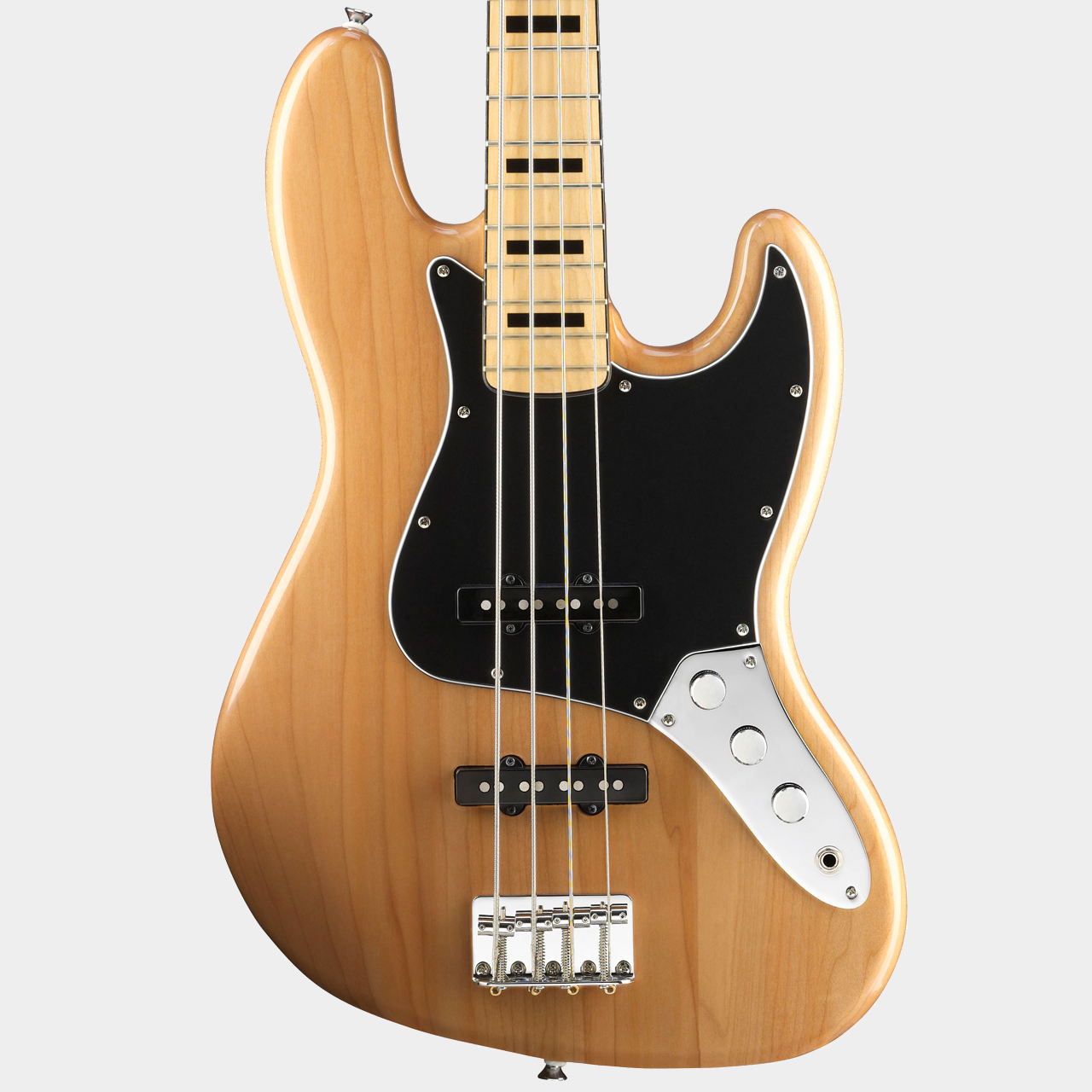 SQUIER Vintage Modified Jazz Bass MN Natural Body Detail