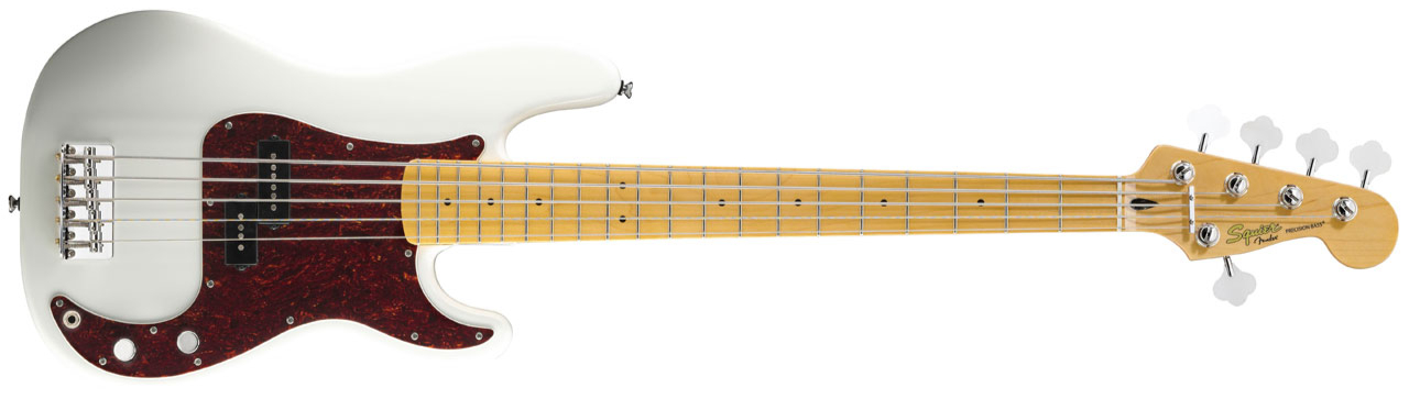FENDER SQUIER Vintage Modified Precision Bass V MN Olympic White