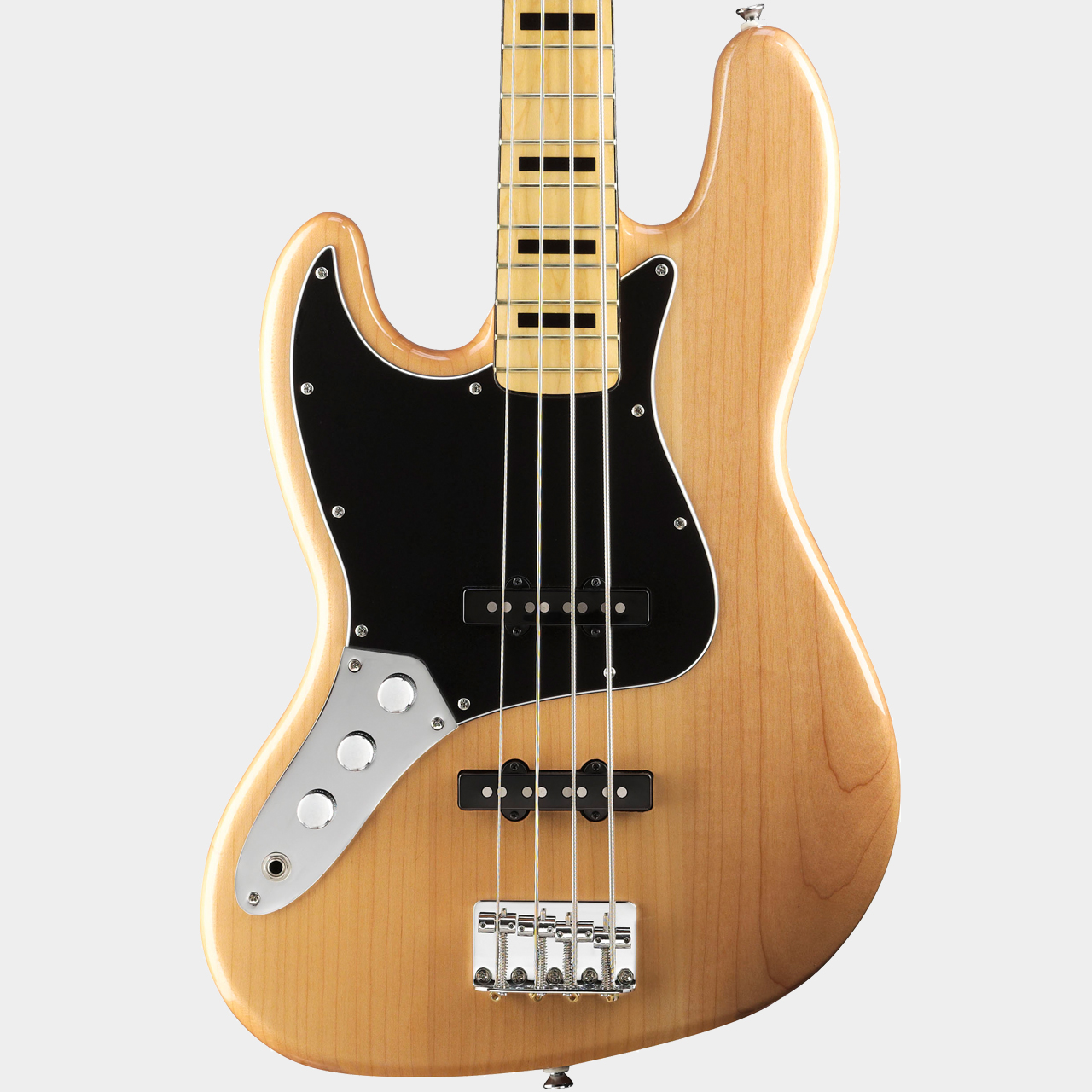 SQUIER Vintage Modified Jazz Bass MN Natural Lefthand Body Detail