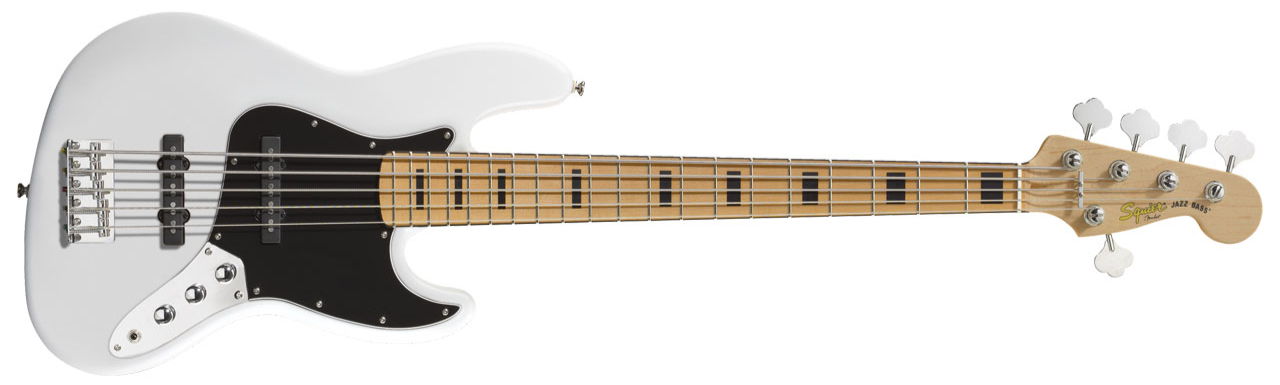 FENDER SQUIER Vintage Modified Jazz Bass V MN Olympic White
