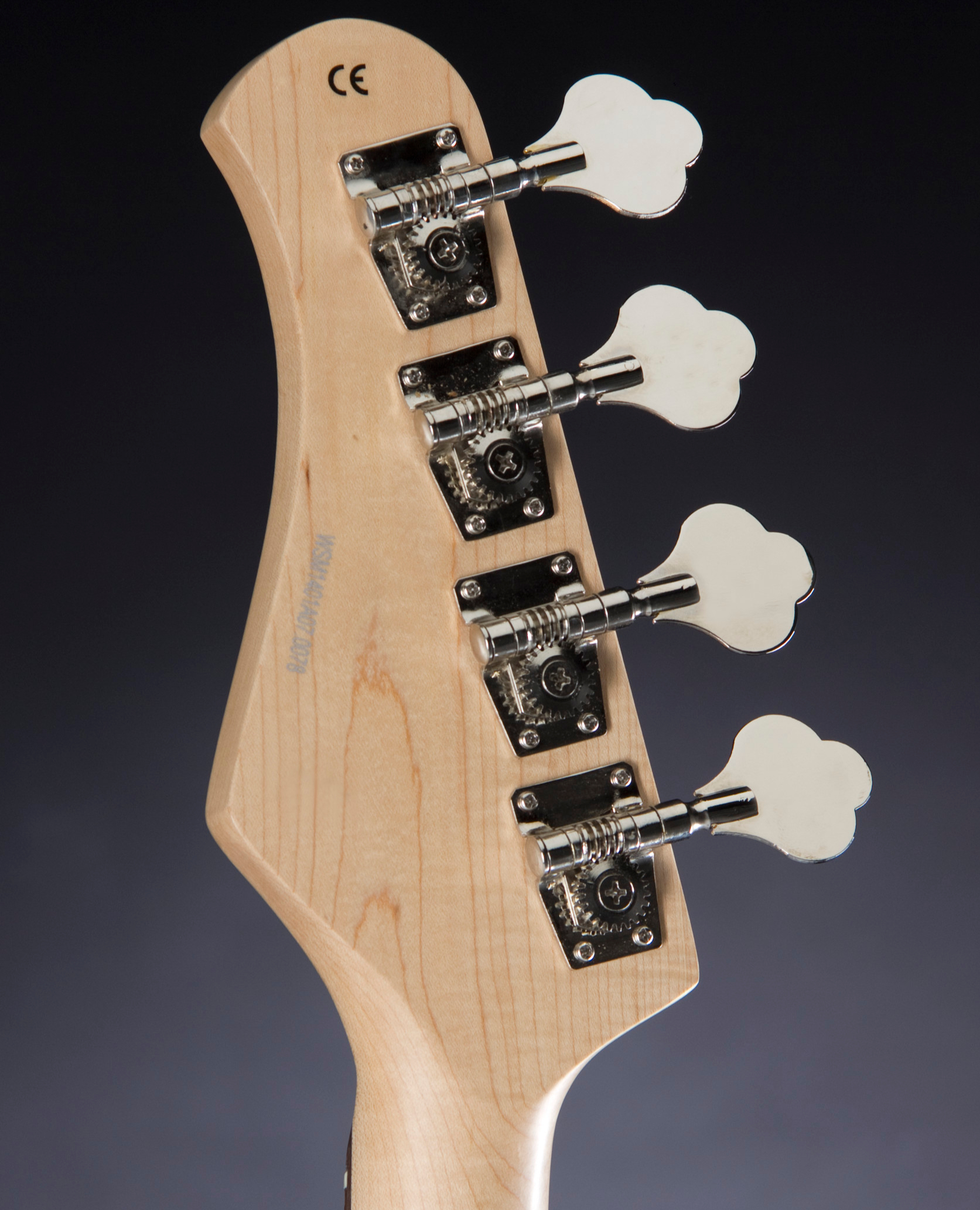 JACK & DANNY JB Mini BLK Black Headstock Detail