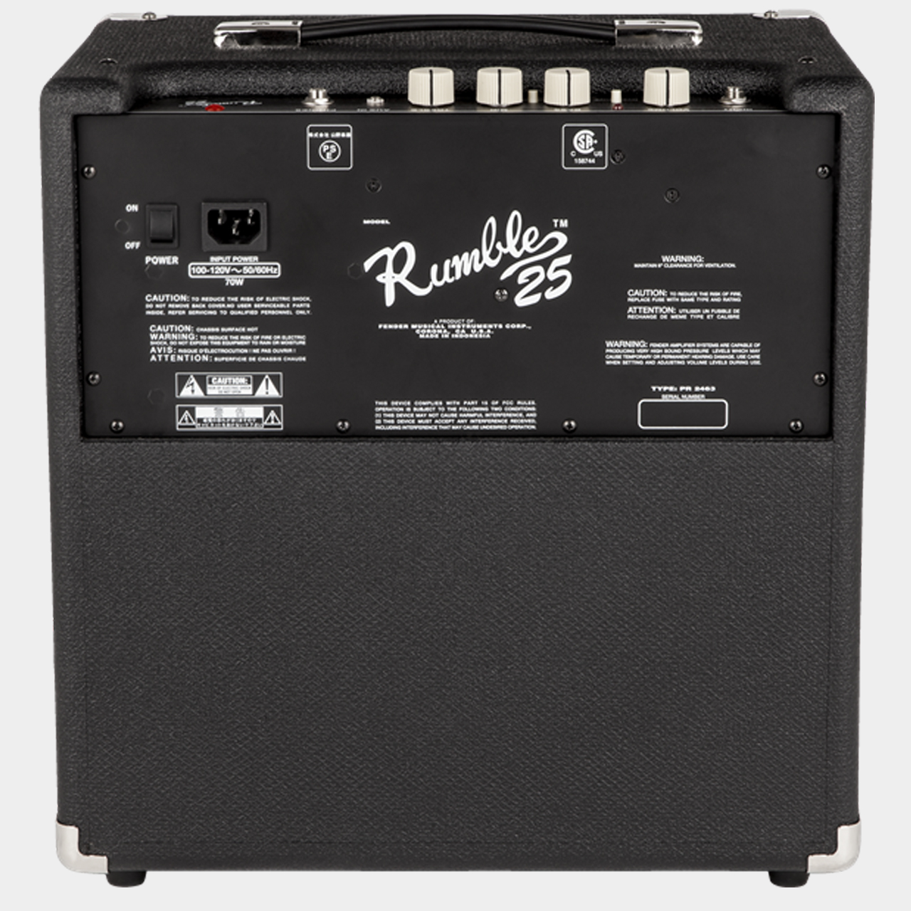 FENDER Rumble 25 V3 Combo Rear