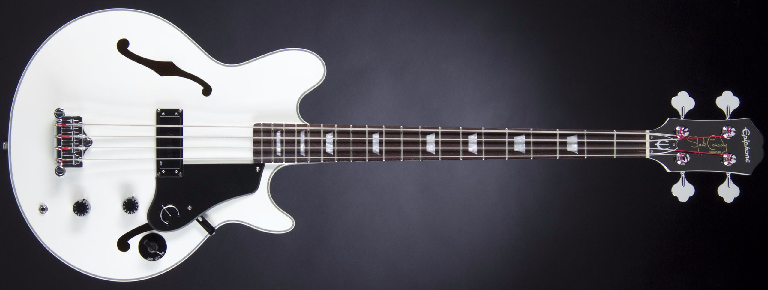 EPIPHONE Limited Edition Jack Casady Signature Bass Alpine White