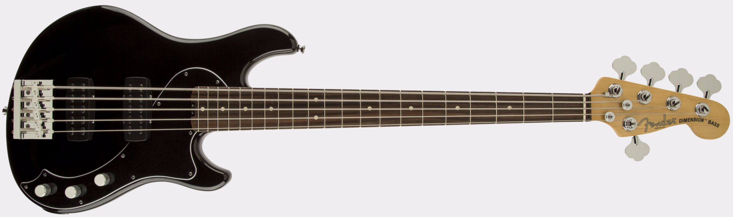 FENDER American Standard Dimension Bass V HH RW Black
