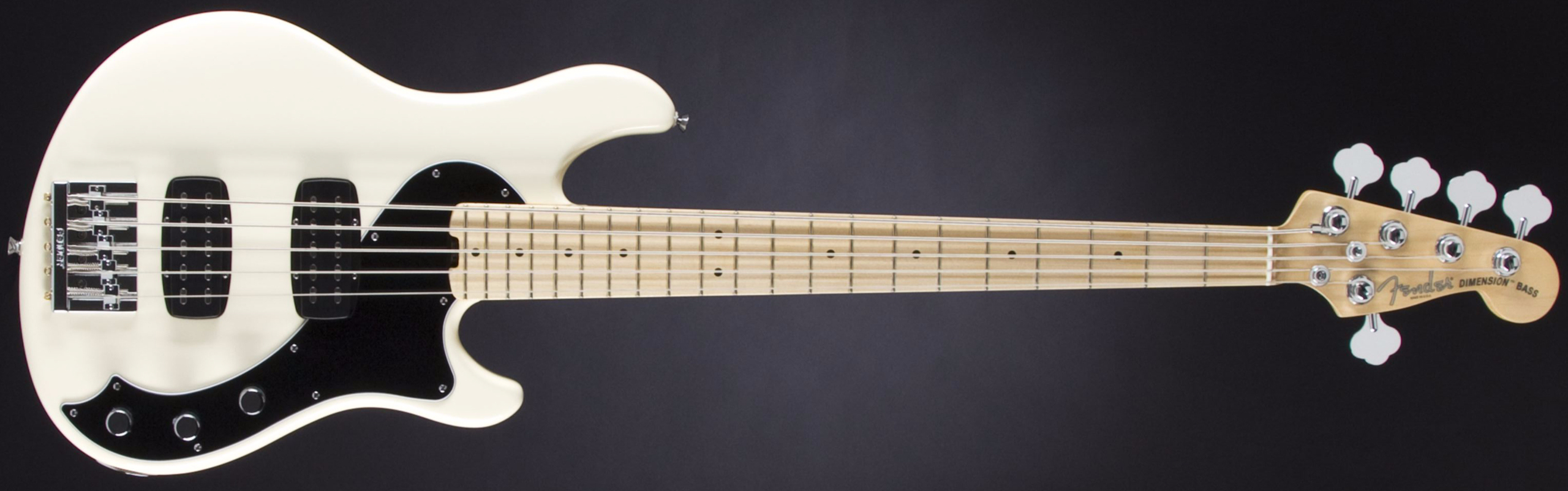 FENDER American Standard Dimension Bass V HH MN Olympic White