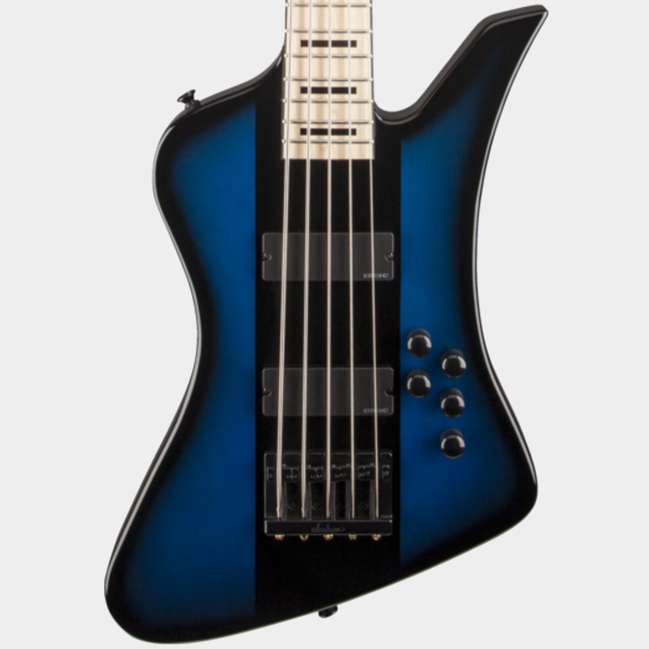 JACKSON Dave Ellefson Kelly Bird V Blue Burst Body Detail