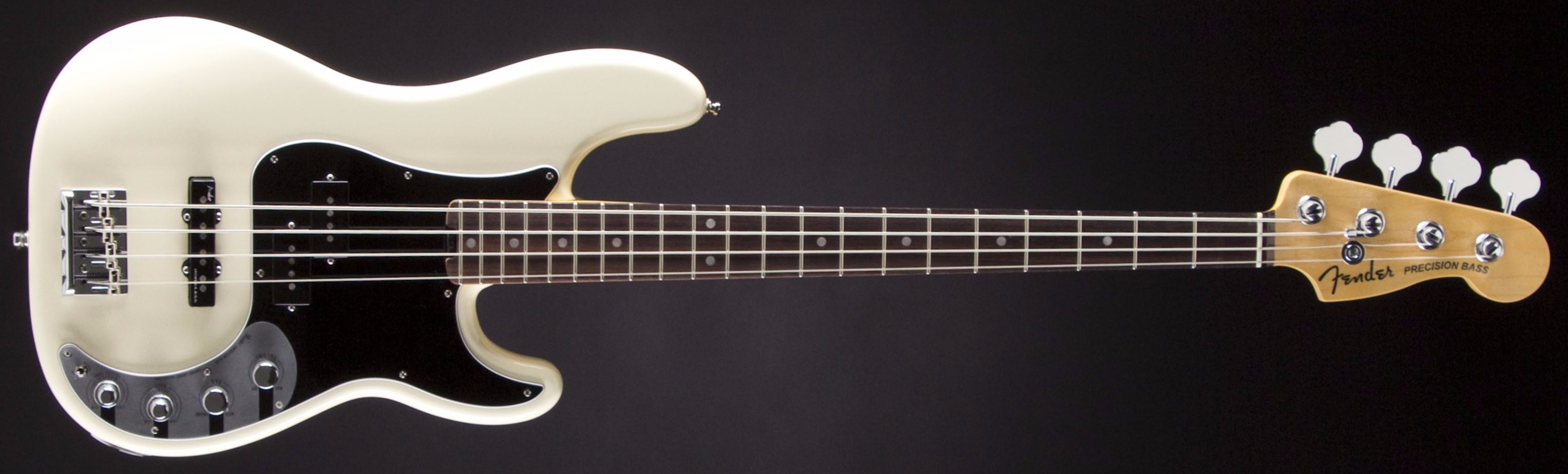 FENDER American Elite Precision Bass Olympic White Front