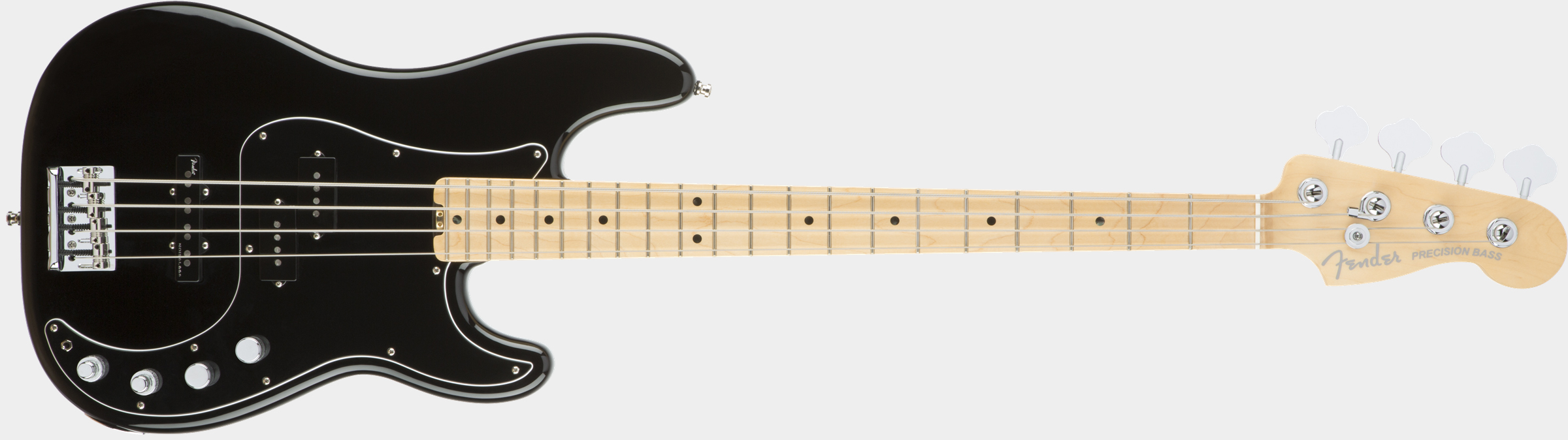 FENDER American Elite Precision Bass Black Front