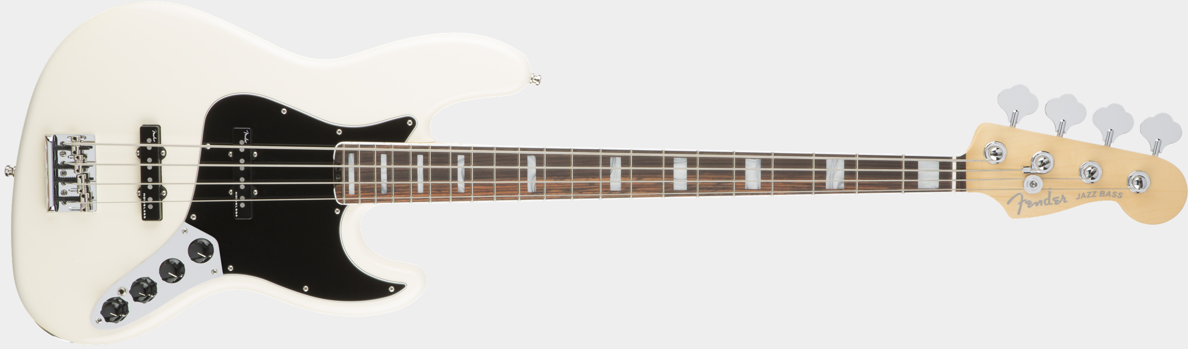 FENDER American Elite Jazz Bass Olympic White Front