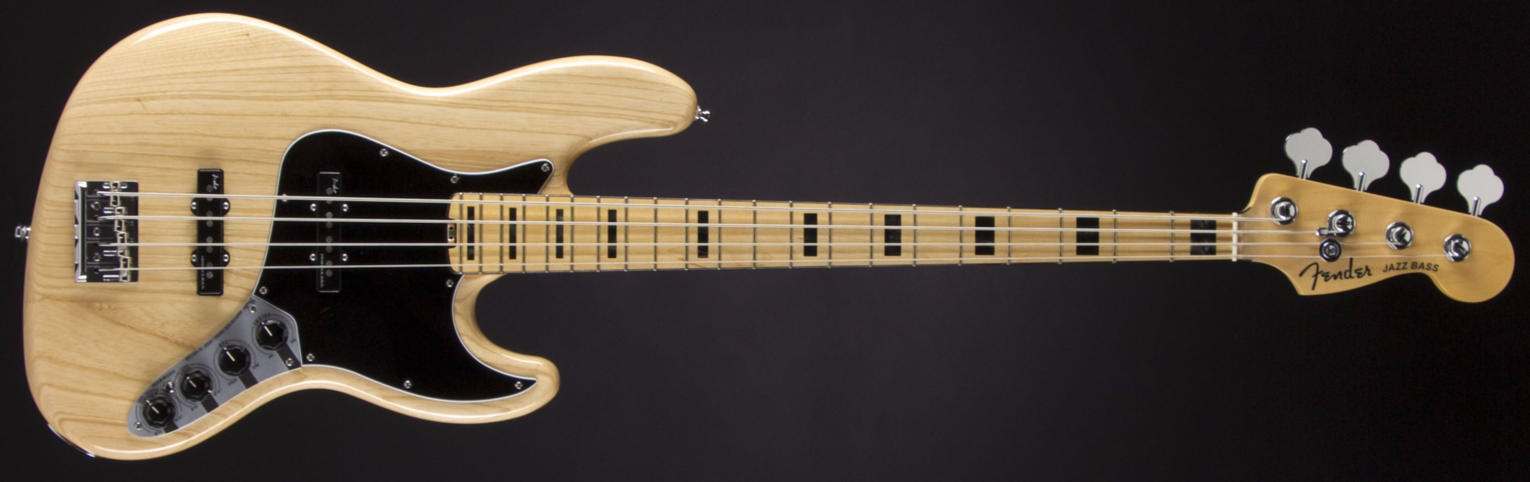 FENDER American Elite Jazz Bass Natural Front