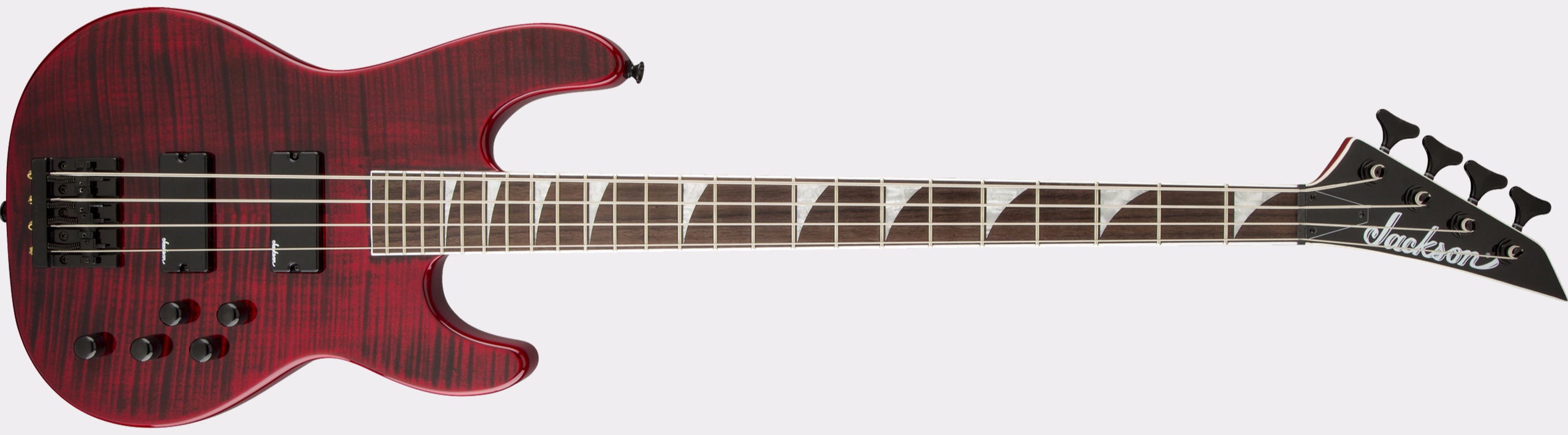 JACKSON X Series Concert Bass CBXNT IV Transparent Red