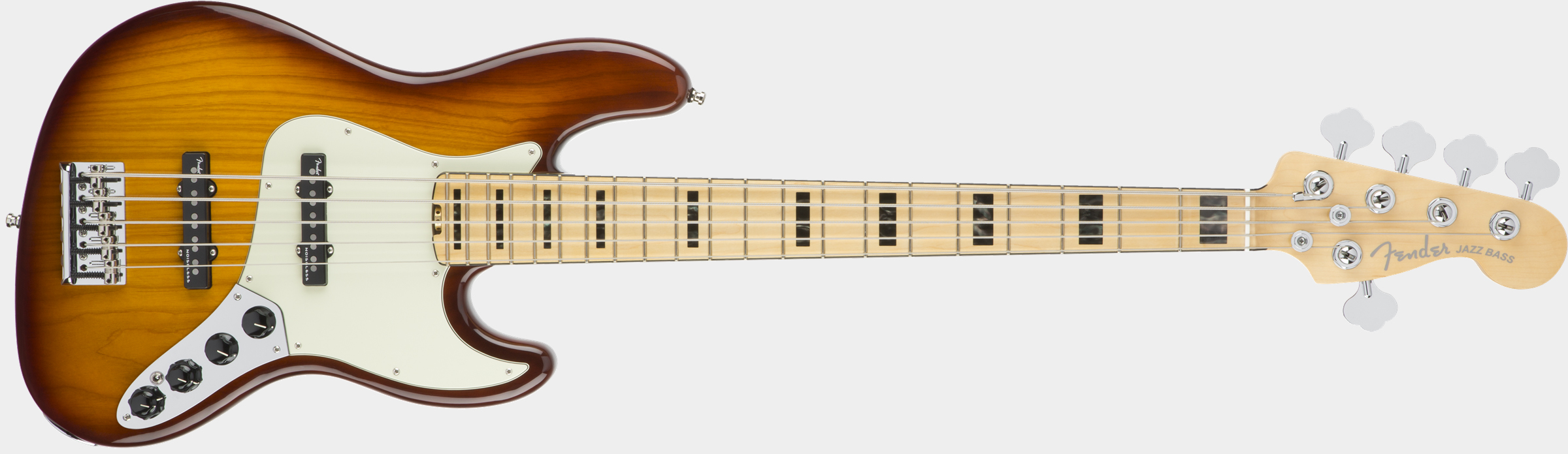 FENDER American Elite Jazz Bass V Tobacco Sunburst