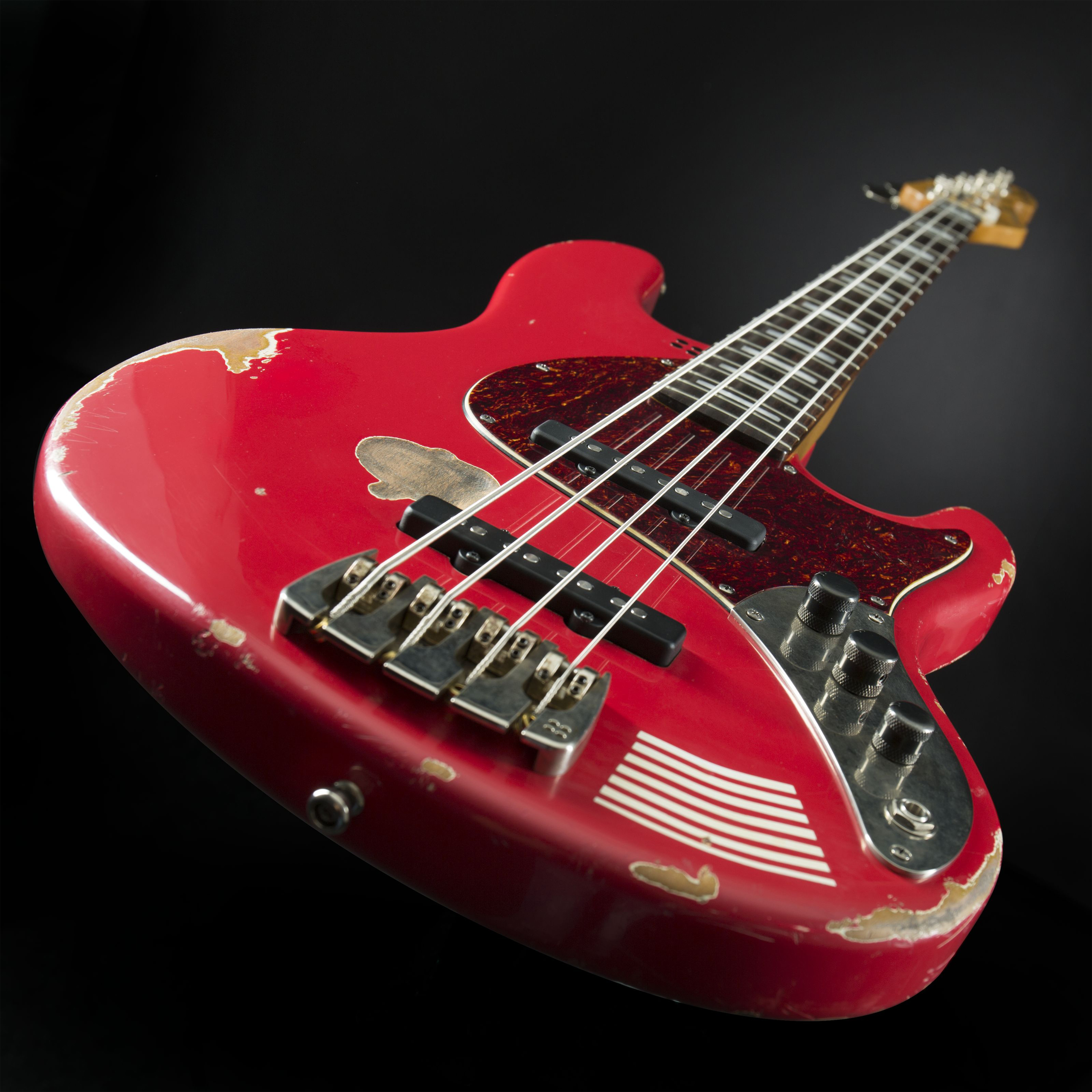 SANDBERG California MarloweDK 4-String Red Hardcore Aged Detail2