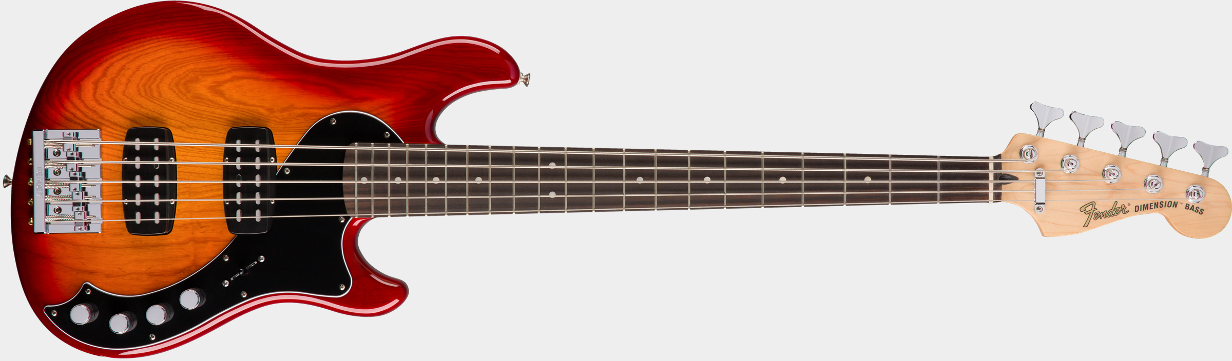 FENDER Deluxe Dimension Bass V RW Aged Cherry Burst