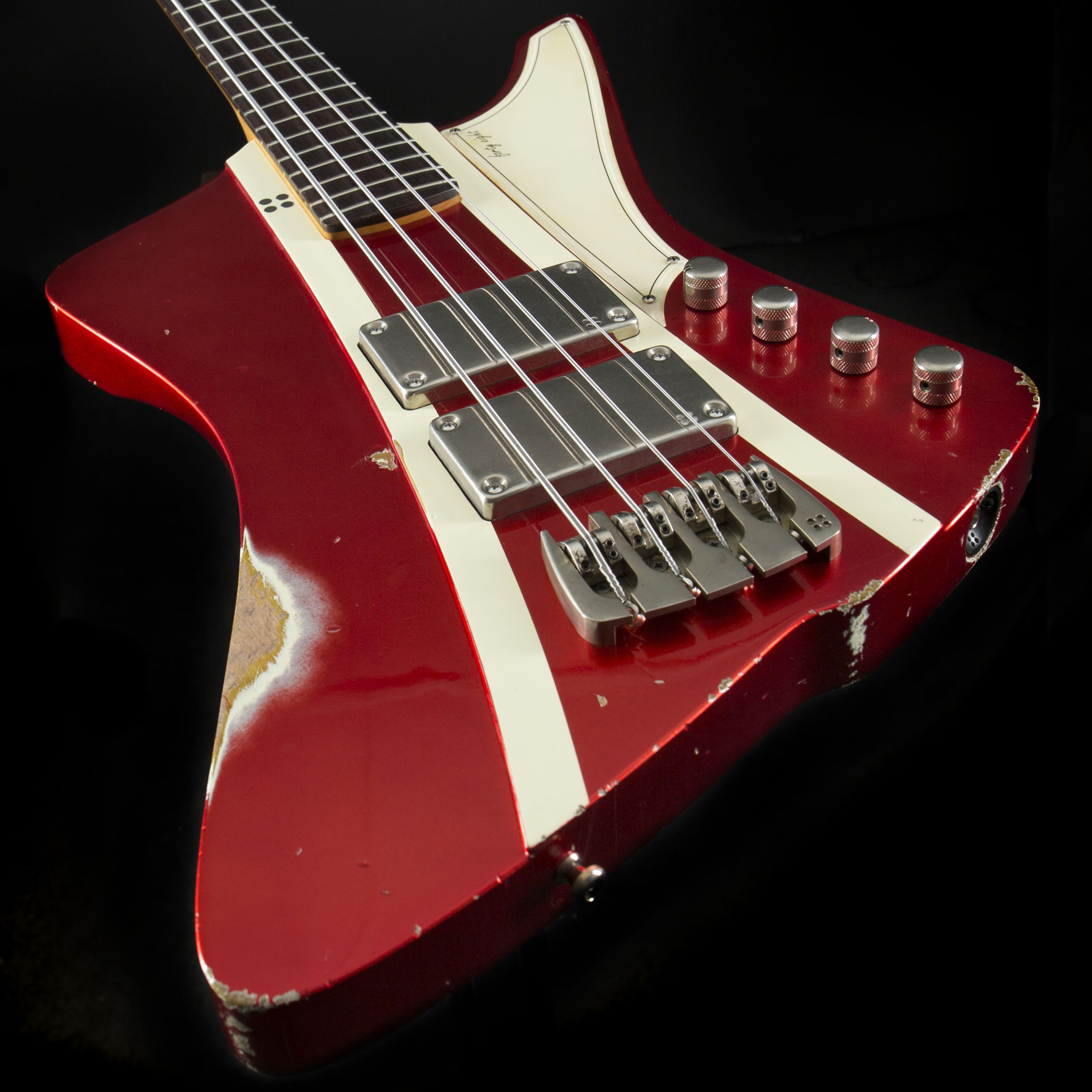 Sandberg Forty Eight 4 RW Metallic Red w/ Matching Headstock Hardcore Aged Korpus