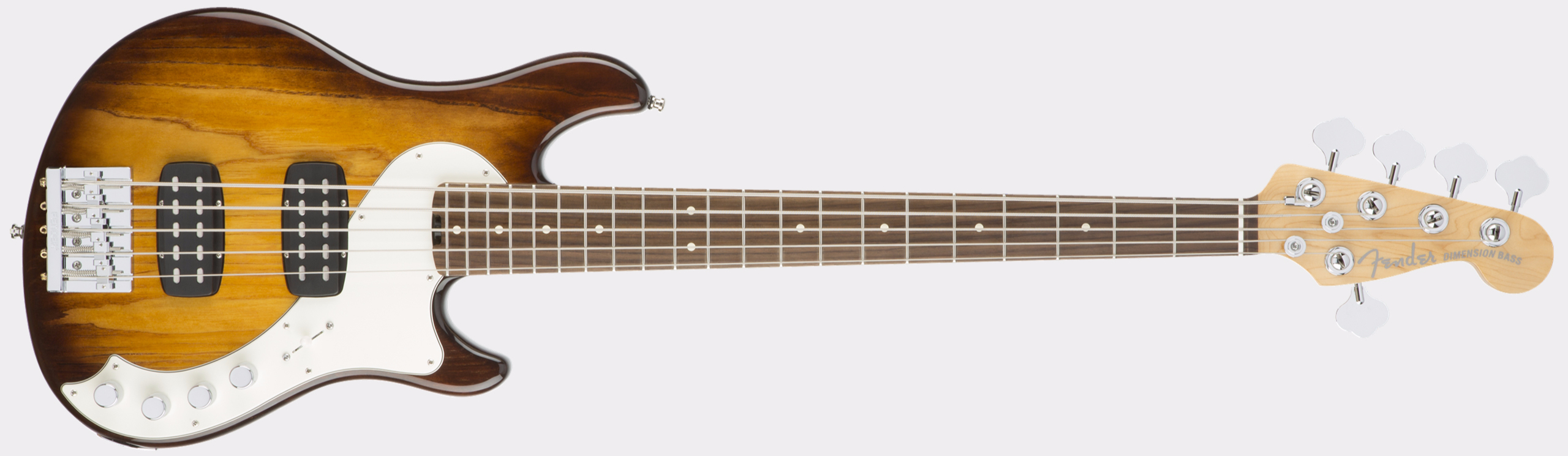 FENDER American Elite Dimension Bass V HH RW Violin Burst