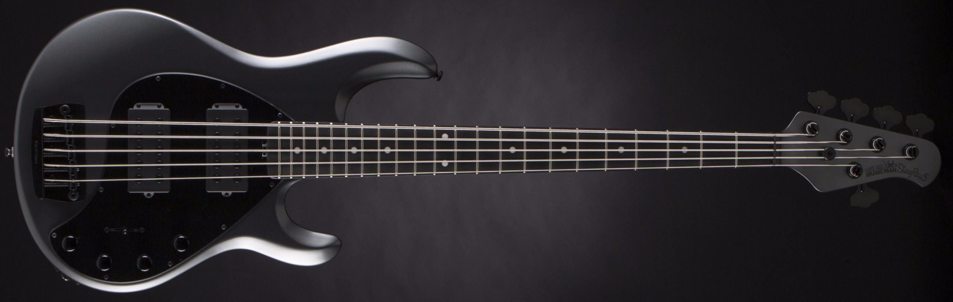 Music Man StingRay 5 3EQ 2H Stealth Charcoal Front