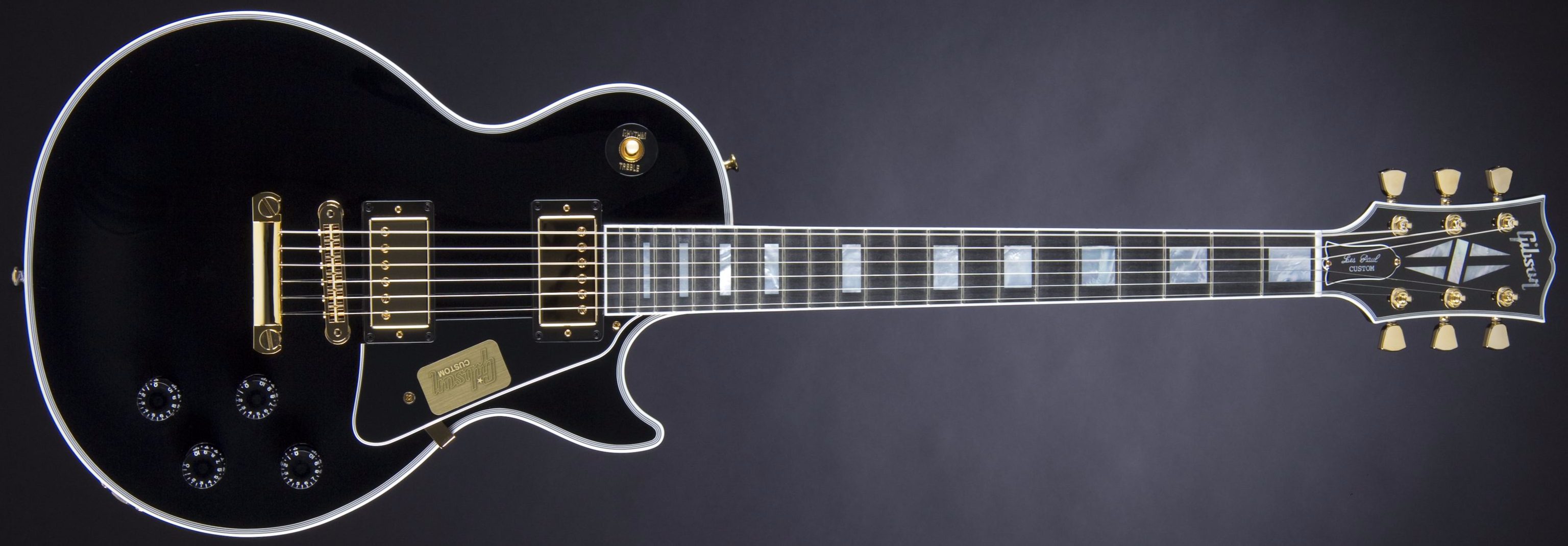 Gibson Les Paul Custom Ebony Front