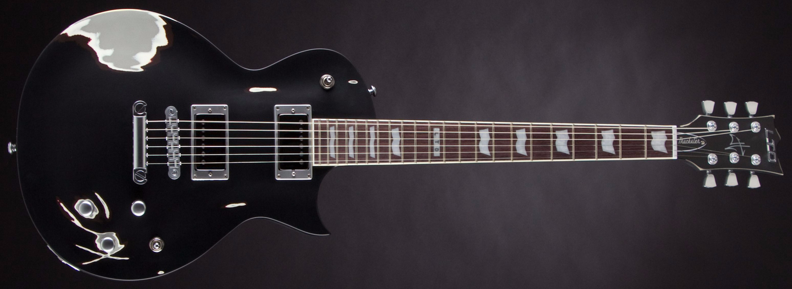 ESP LTD Truckster Black Satin James Hetfield Signature