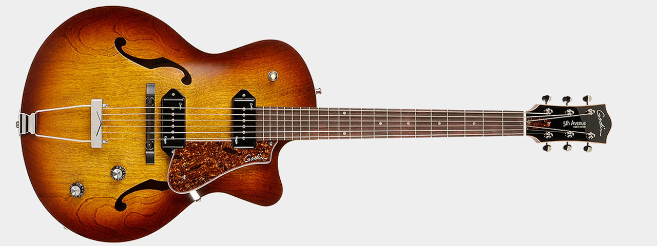 Godin 5th Avenue Kingpin II Cognac Front