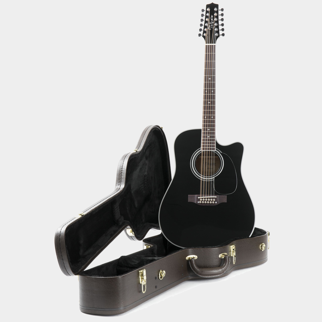 Takamine EF381 SC 12-String Black Highgloss