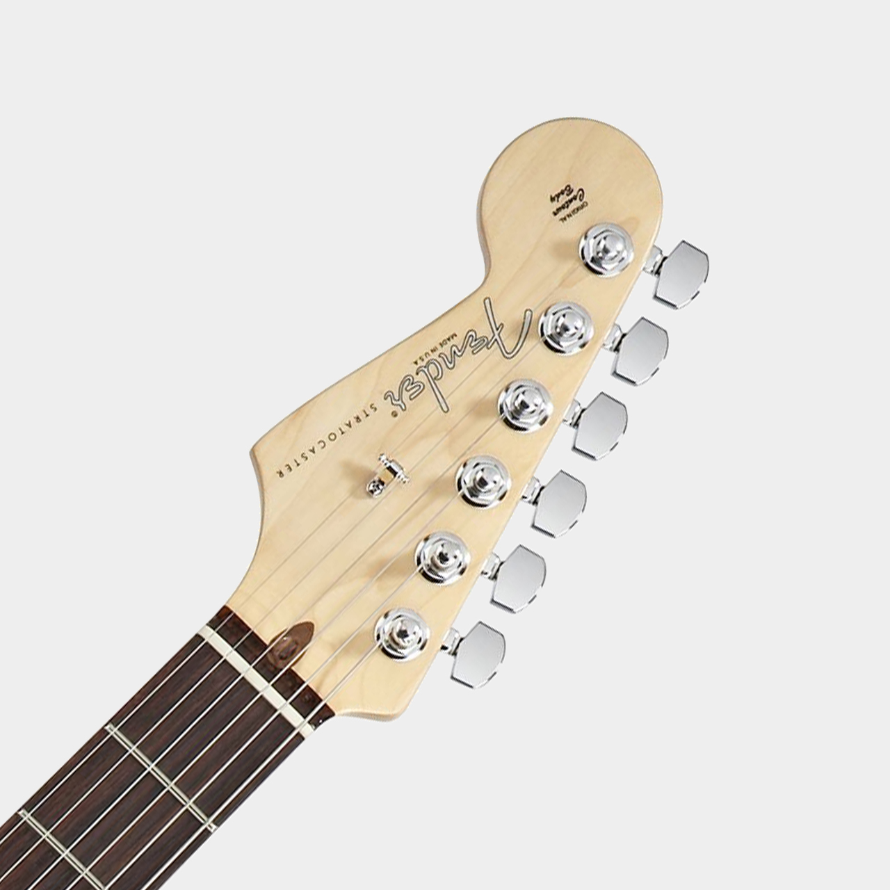 Fender American Standard Strat Lefthand RW OWH Headstock