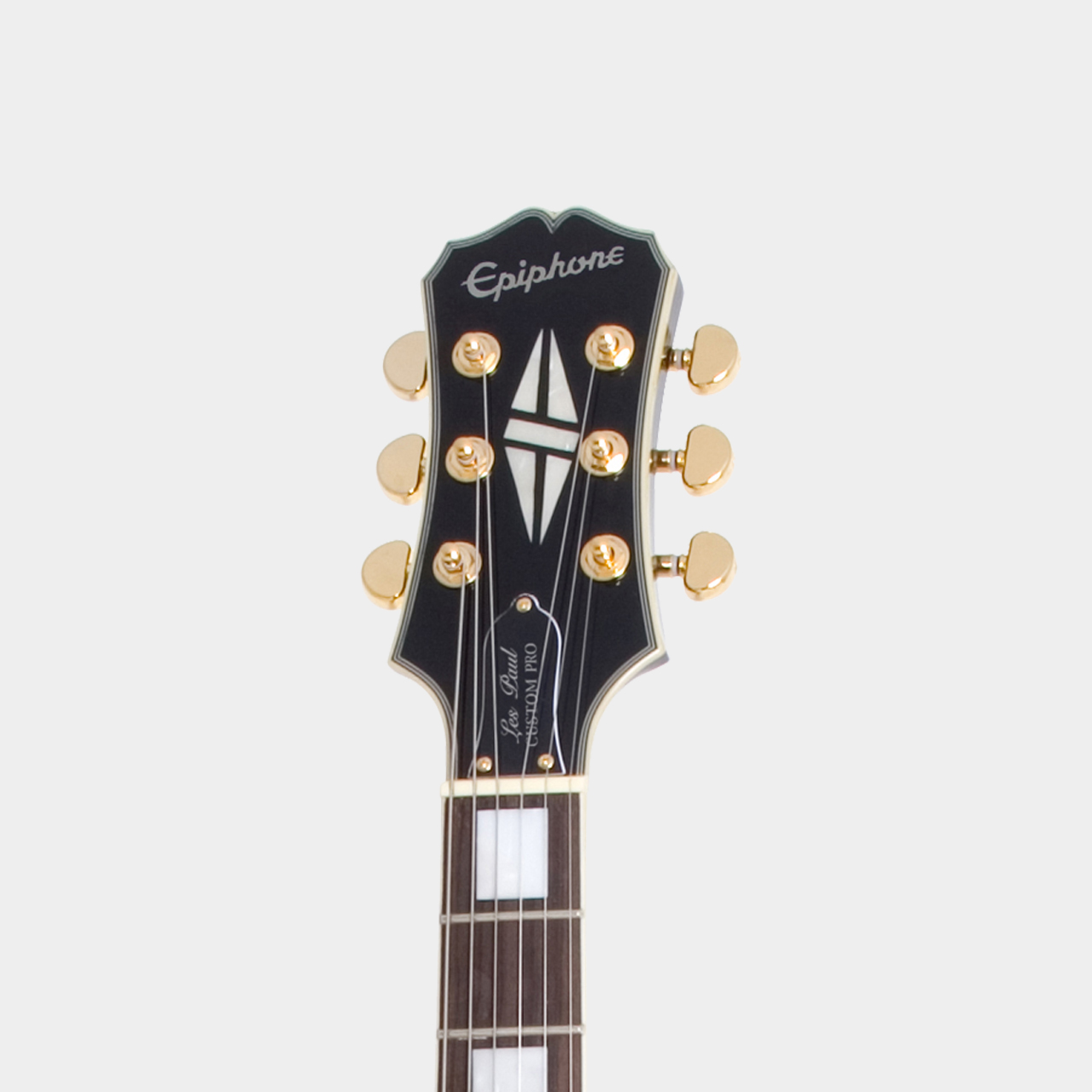 EPIPHONE Les Paul Custom PRO Ebony Headstock