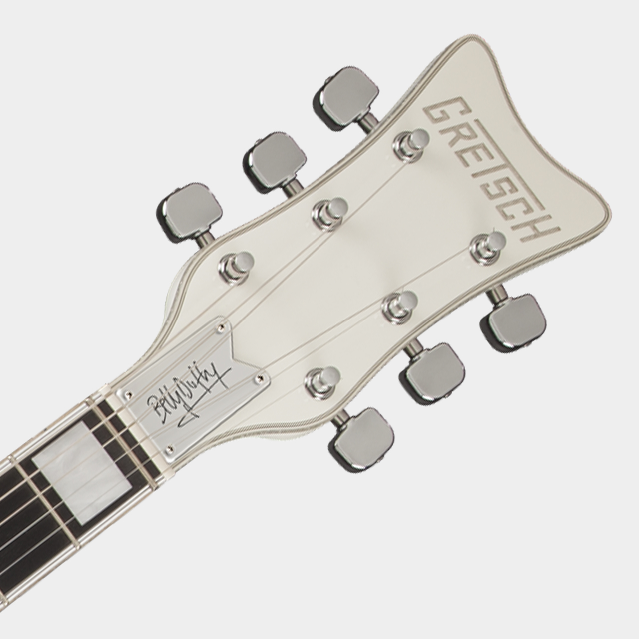 GRETSCH G7593T-BD Billy Duffy White Falcon Headstock Detail