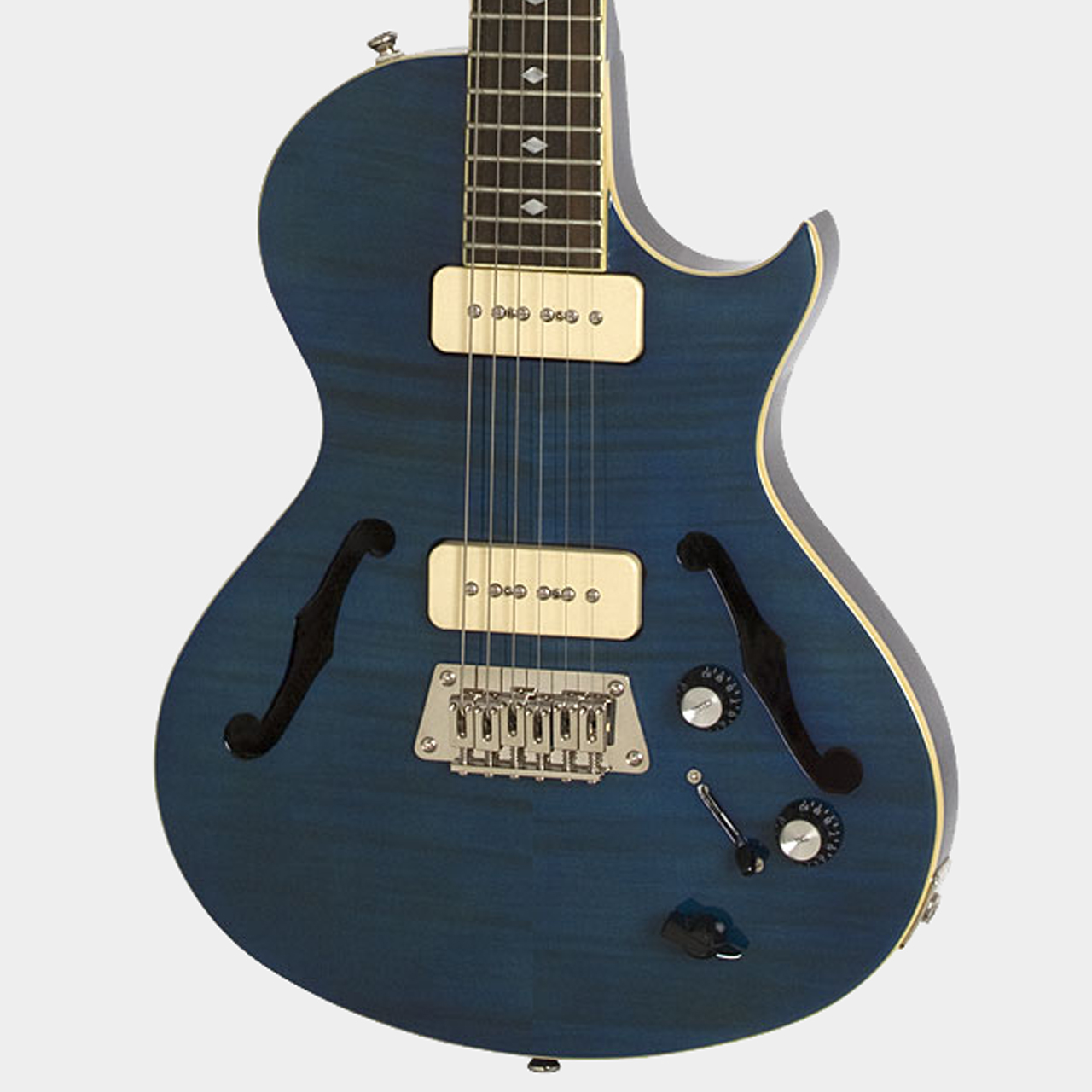 Epiphone Blueshawk Deluxe MS Midnight Sapphire Body Detail
