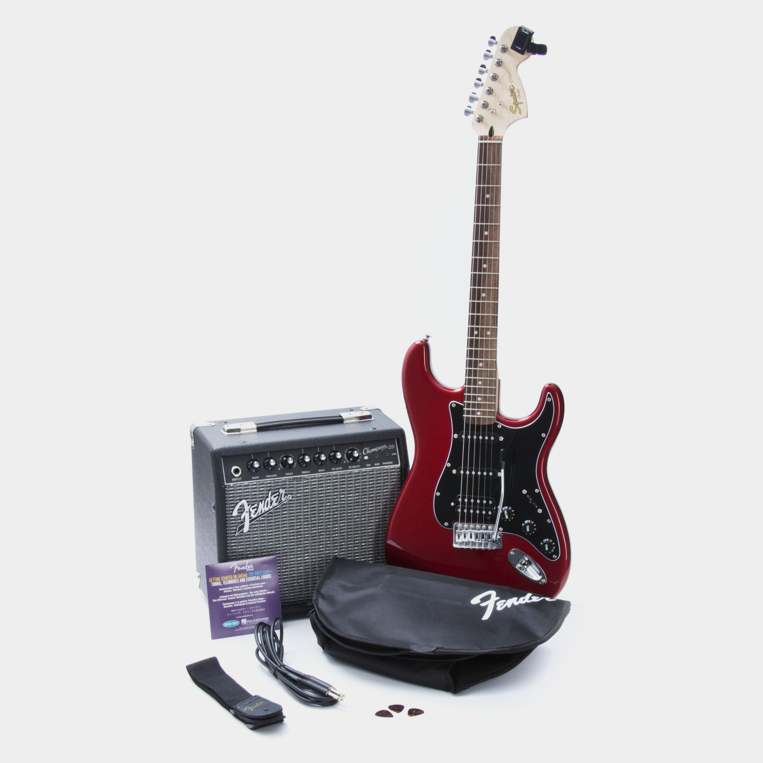 SQUIER Affinity Strat HSS Pack Candy Apple Red Zubehör