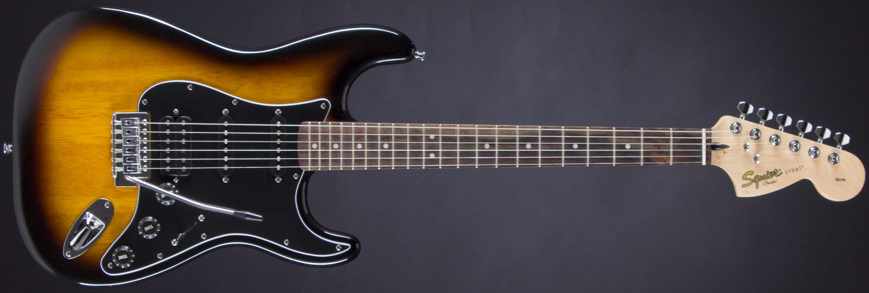 SQUIER Affinity Strat HSS Pack Brown Sunburst Front