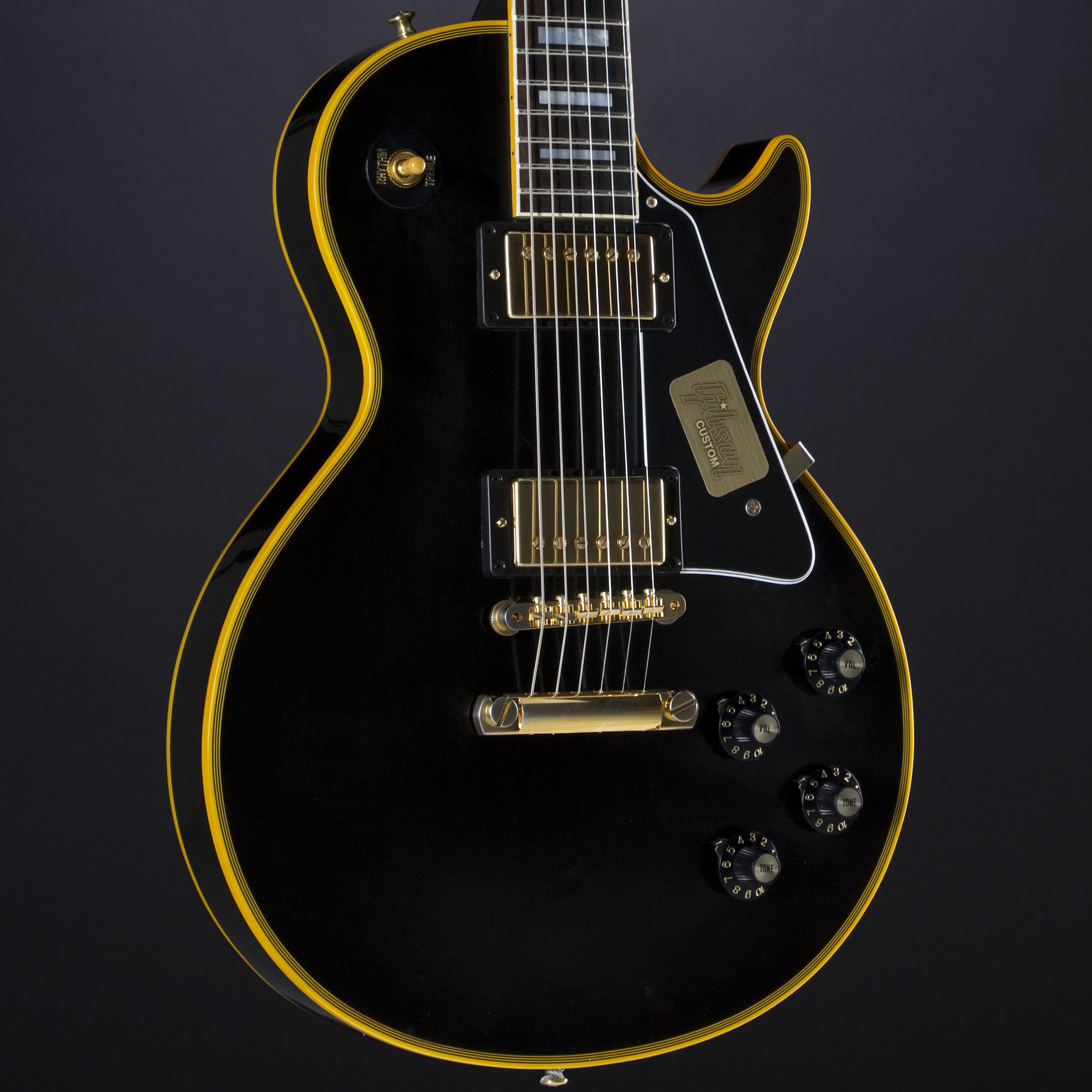 GIBSON 1974 Les Paul Custom Reissue Ebony #CS500111 Korpus