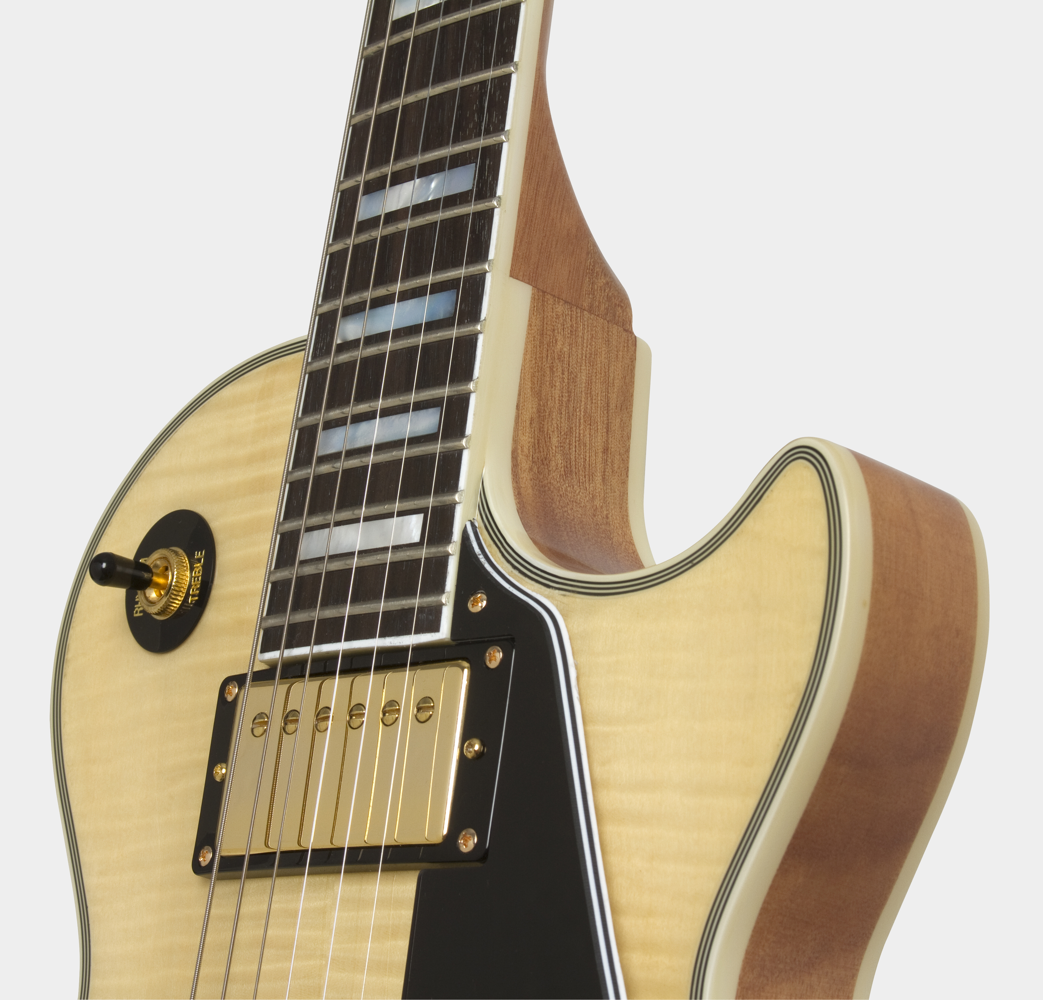EPIPHONE Ltd Ed Les Paul Custom 100th Anniversary Natural Body Detail