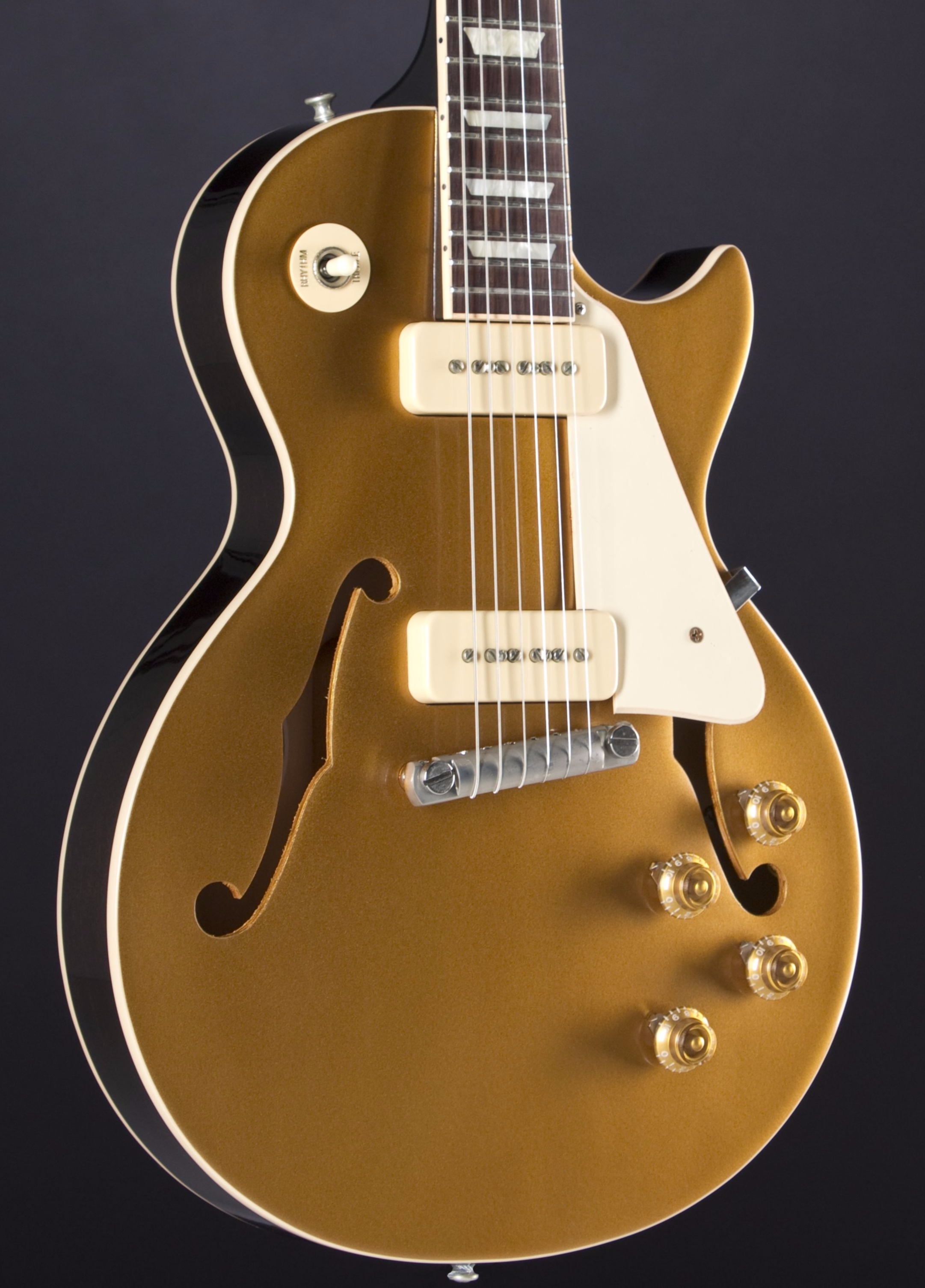 GIBSON Memphis ES-Les Paul P-90 Goldtop Wraparound Body