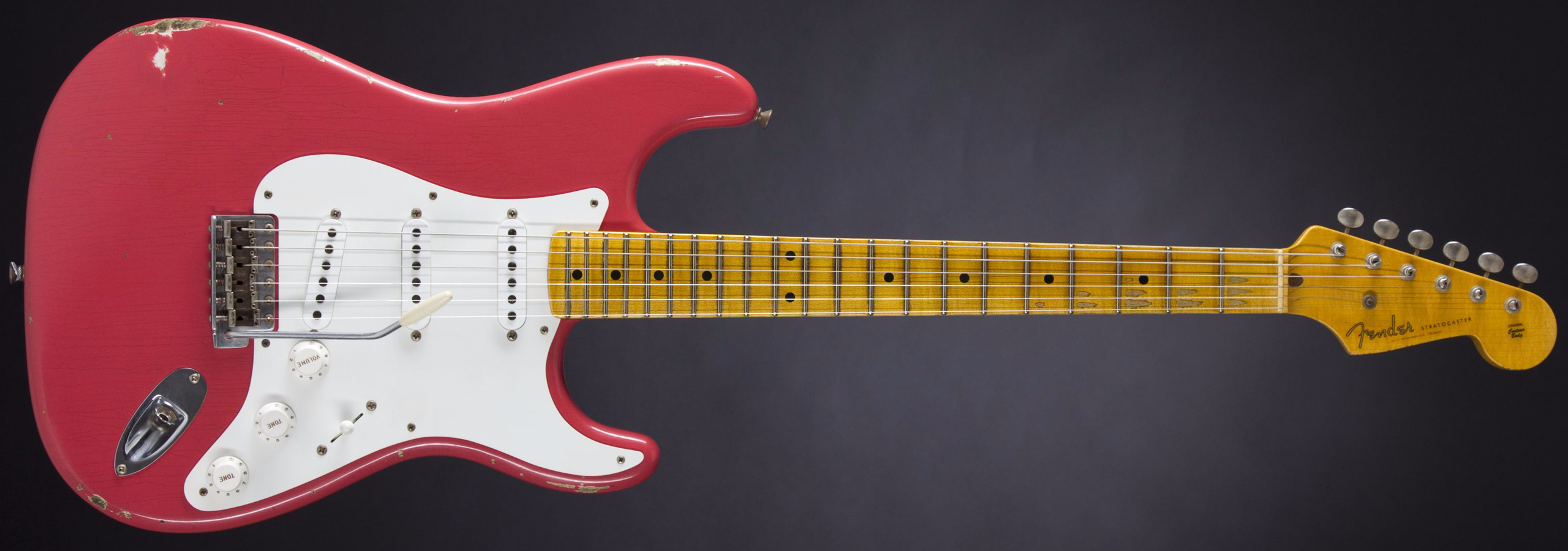 FENDER 1955 Relic Stratocaster Faded Fiesta Red #CZ524995